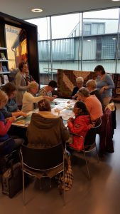 Workshop in de bieb